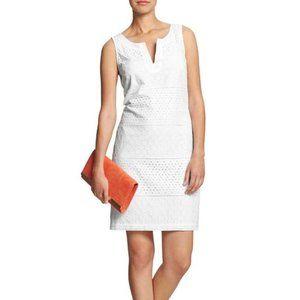 Banana Republic White Eyelet Dress Size 8